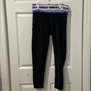 Black Leggings with Fold over